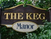the keg manor sign