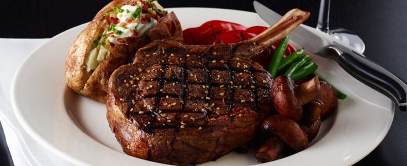 We each enjoyed an incredible steak dinner. William's favorite is the New York Steak!